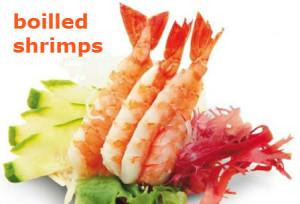 boilled shrimps