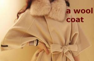 coata wool coat