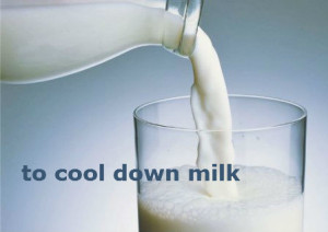 to cool down milk