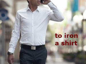to iron a shirt