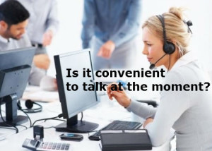 Is it convenient to talk at the moment