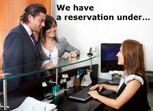 We have a reservation under…