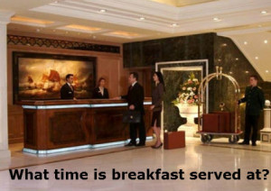 What time is breakfast served at