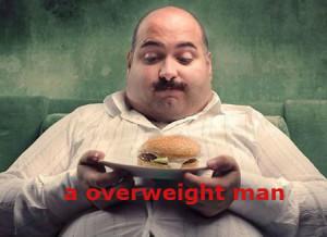 a overweight man