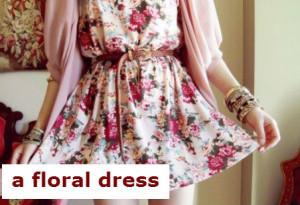 платье в цветок.