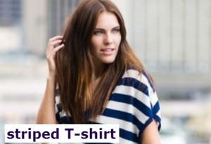 футболка в полоску.