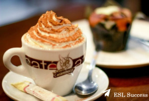 Can I have a cappuccino with whipped cream please.